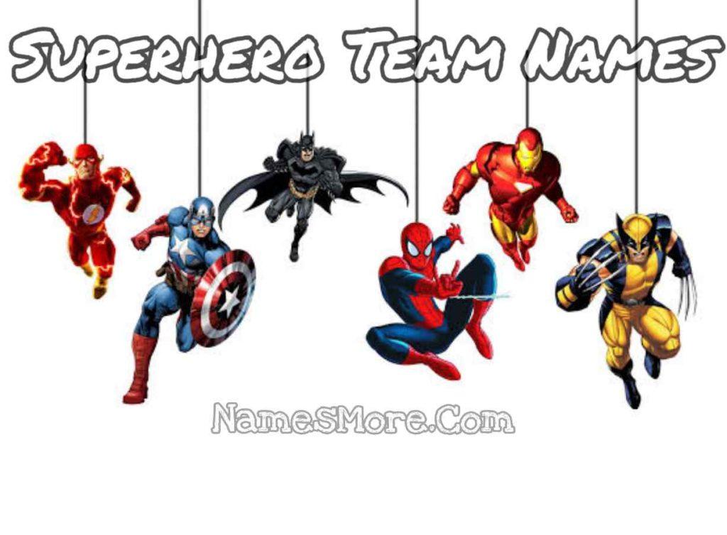 Superhero Team Names