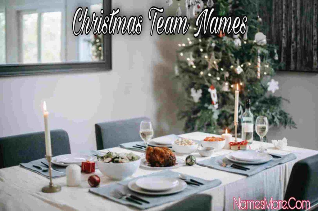 Christmas Team Names