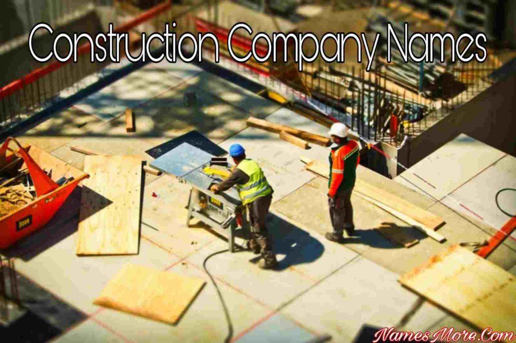 Construction Company Names