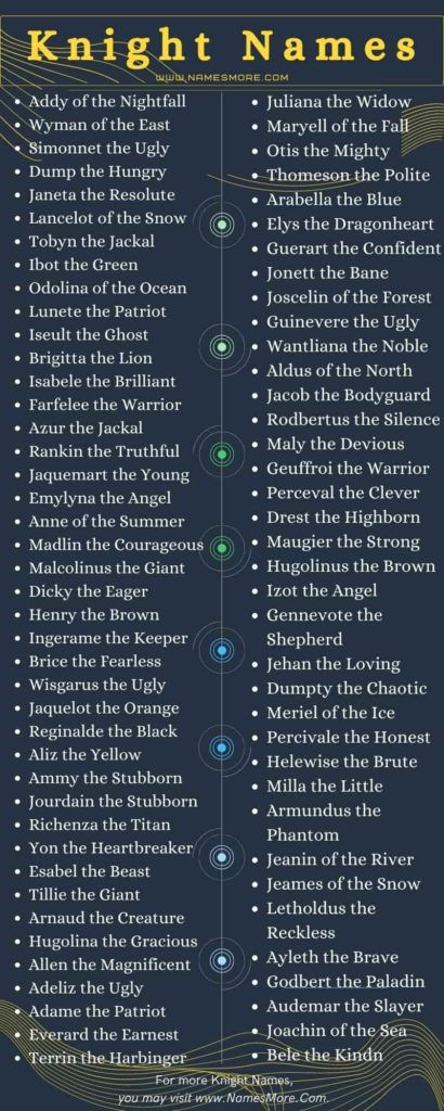 Knight Names Infographic